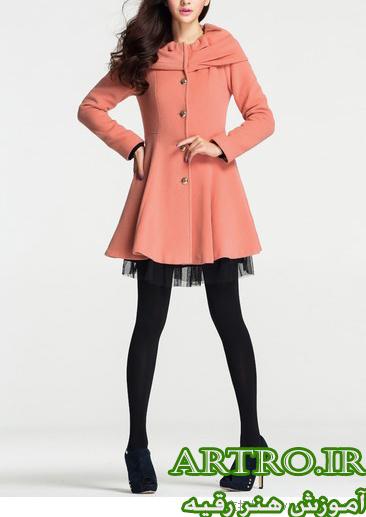 مدل پالتو دخترانه کوتاه شیک2018