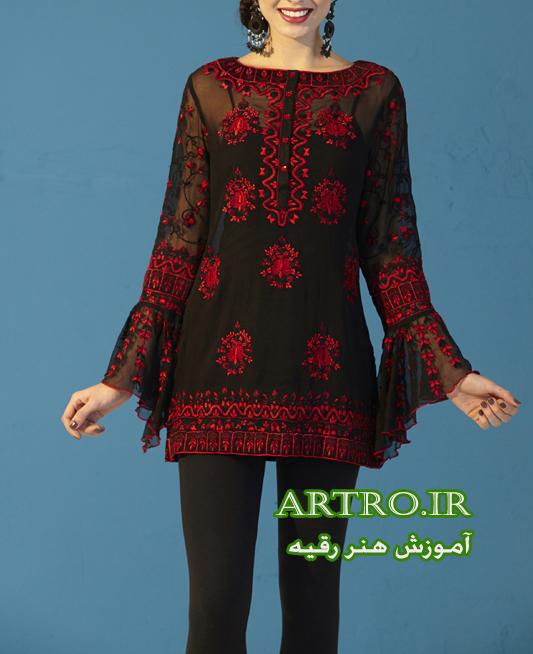 مدل گلدوزی لباس تابستانی زنانه