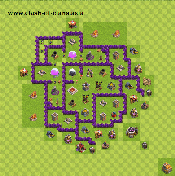 نقشه های کلش آف کلنز برای تاون هال 7