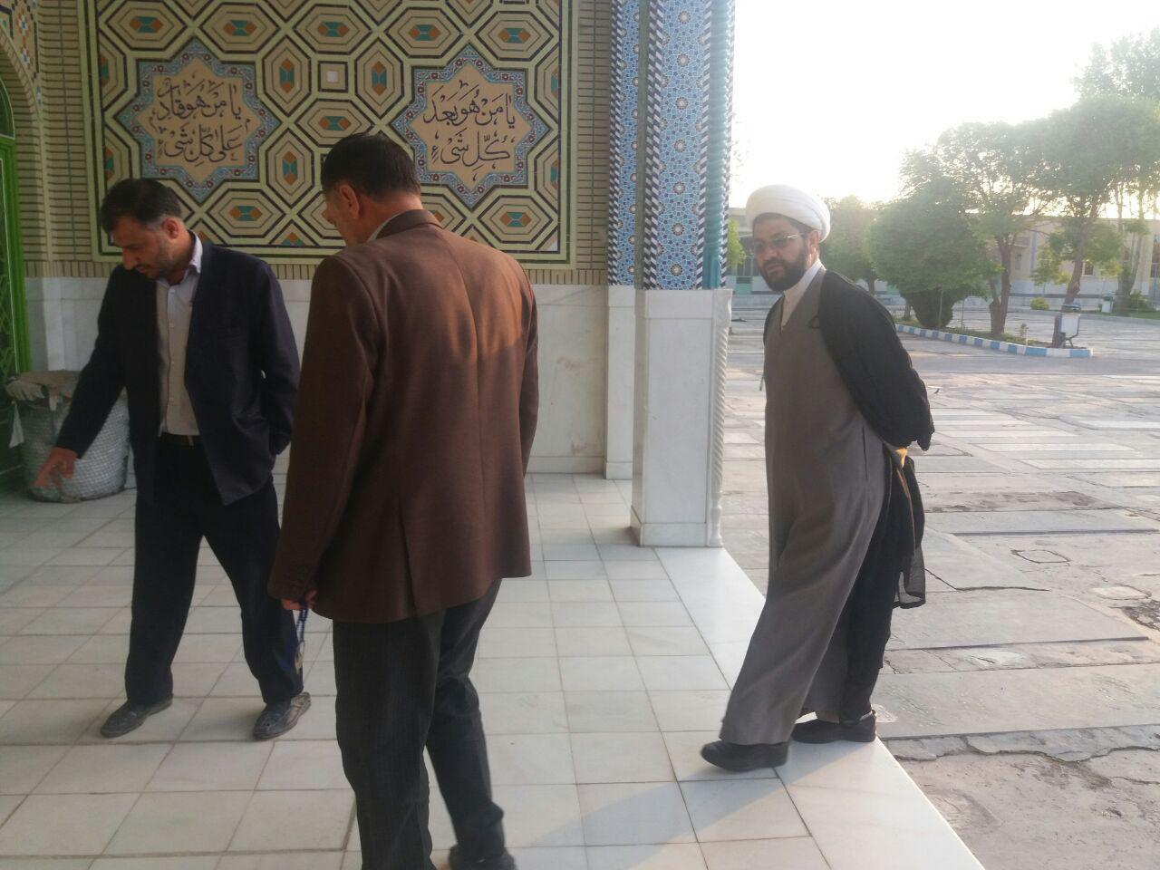 بازدید امام جمعه محترم شهر قهدریجان از روند بازسازی امامزاده سید محمد