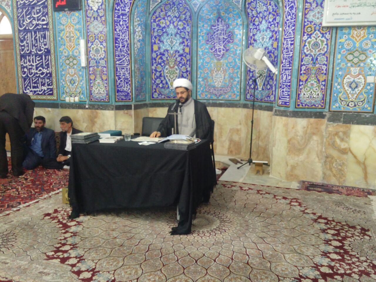 سخنرانی امام  جمعه محترم شهر قهدریجان در مسجد بزرگ