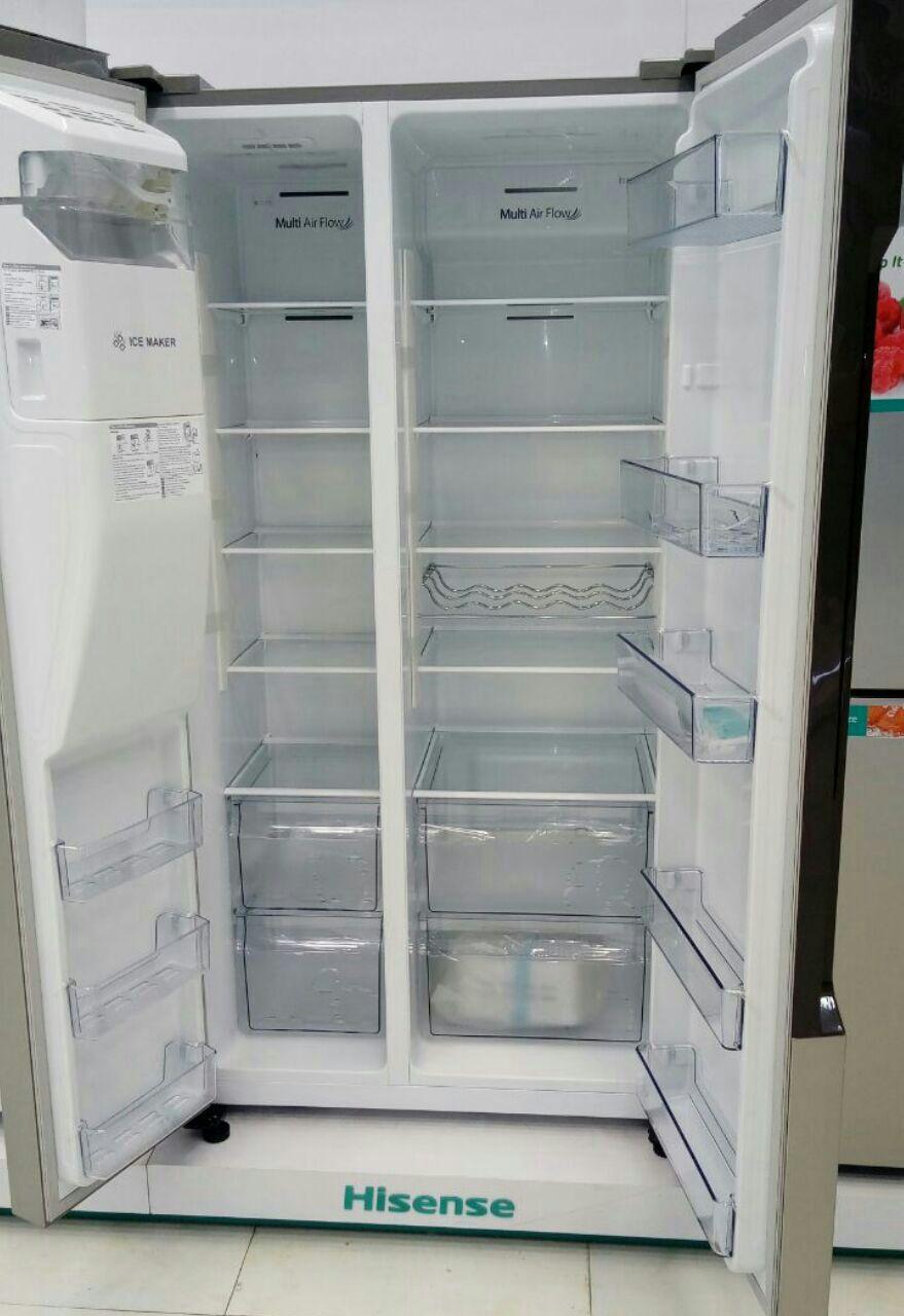 ساید جدید هایسنس hisense ظرفیت 30 فوت بدون برفک یخساز