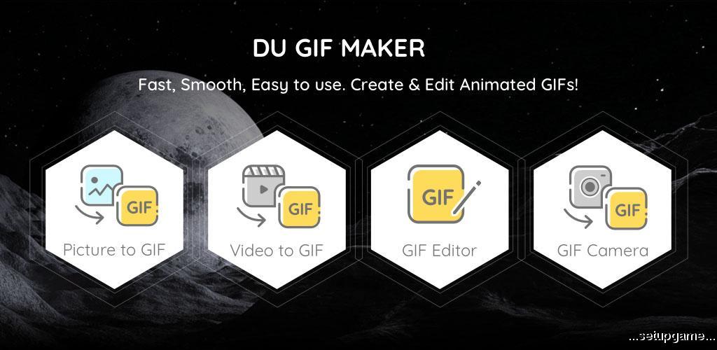 دانلود DU GIF Maker: GIF Maker, Video to GIF & GIF Editor 1.2.2.2 - بهترین و کامل ترین ابزار ساخت گیف اندروید !
