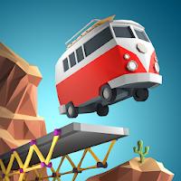 دانلود رایگان بازی Poly Bridge v1.2.3 - بازی شبیه سازی فوق العاده پل سازی برای اندروید و آی او اس