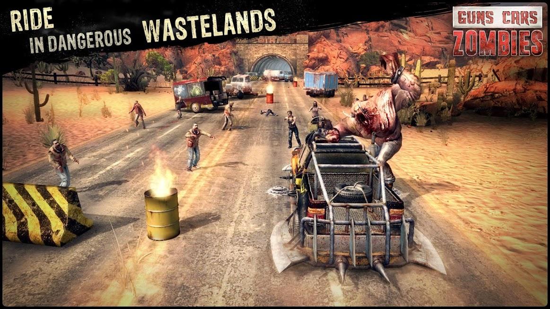 دانلود Guns, Cars and Zombies 3.2.5 - بازی نابود کردن زامبی ها با ماشین جنگی اندروید و آی او اس