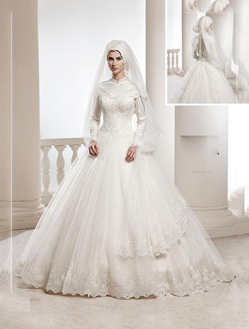 مدل لباس عروس محجبه 97