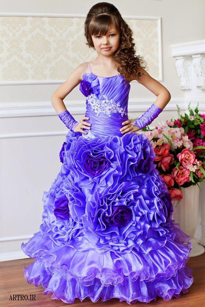شیک ترین لباس مجلسی دختر بچه ها2018