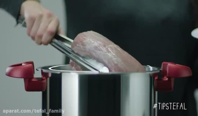 راز طبخ یک رست بیف عالی با زودپز تفال