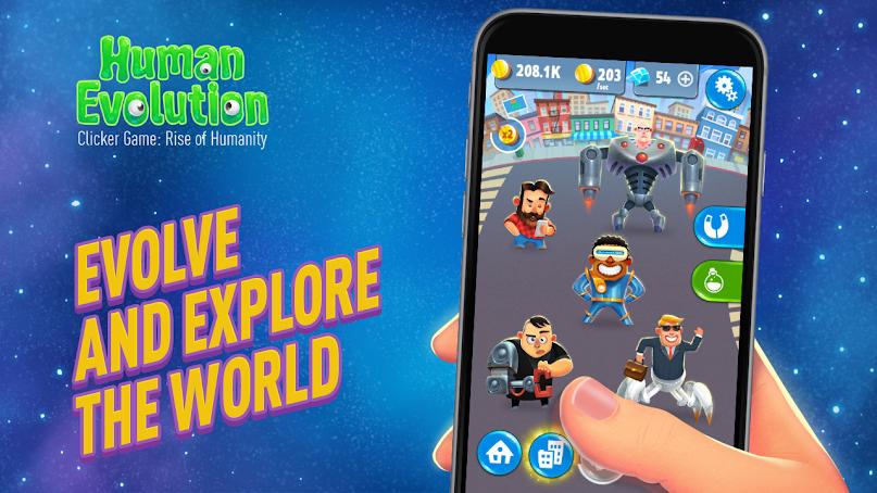 دانلود Human Evolution: Rise of Mankind 1.1.9.12 - بازی دوست داشتنی تکامل بشر برای اندروید + مود