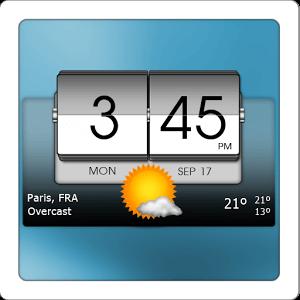 دانلود 3D Flip Clock & World Weather v4.36.01 ویجت آب و هوا برای اندروید
