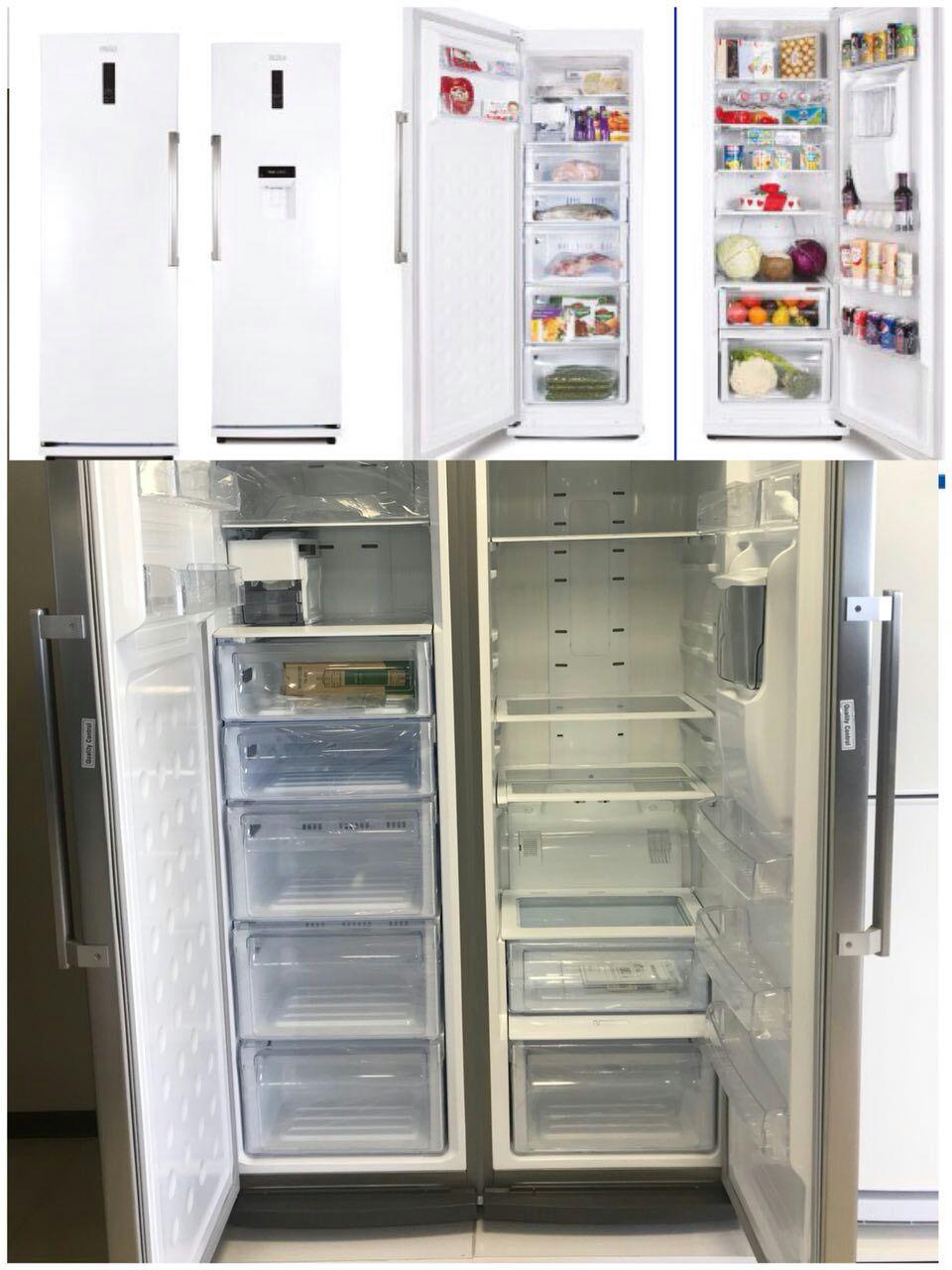 یخچال فریزر دوقلو بدون برفک رنز renzo مدل 592 آبسردکن یخساز اتوماتیک