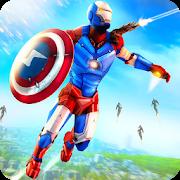دانلود Captain Superhero Flying Robot Rescue v1.1 - بازی کاپیتان سوپر قهرمان پرواز ربات نجات برای اندروید و آی او اس