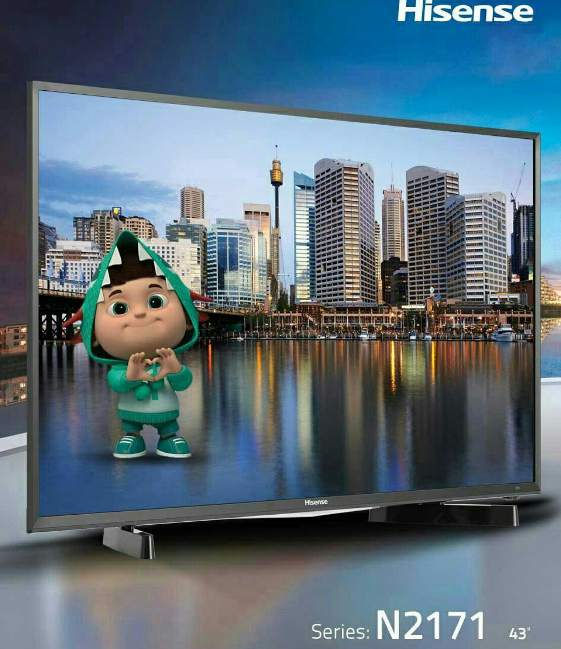تلویزیون ال ای دی هایسنس hisense سایز 43 اینچ سری N2171