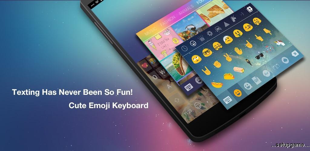 دانلود Emoji Keyboard 1.6.1.0 - کیبورد شکلک دار اندروید با پشتیبانی از زبان فارسی