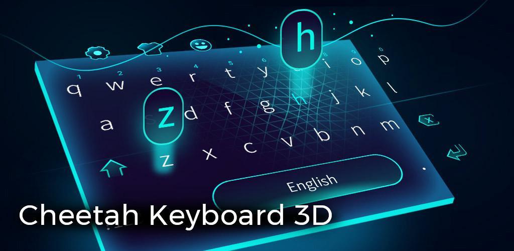 دانلود رایگان بازی Cheetah Keyboard-Gif,Emoji Keyboard&3D Themes v4.0.2 - صفحه کلید سریع و زیبای چیتا برای اندروید