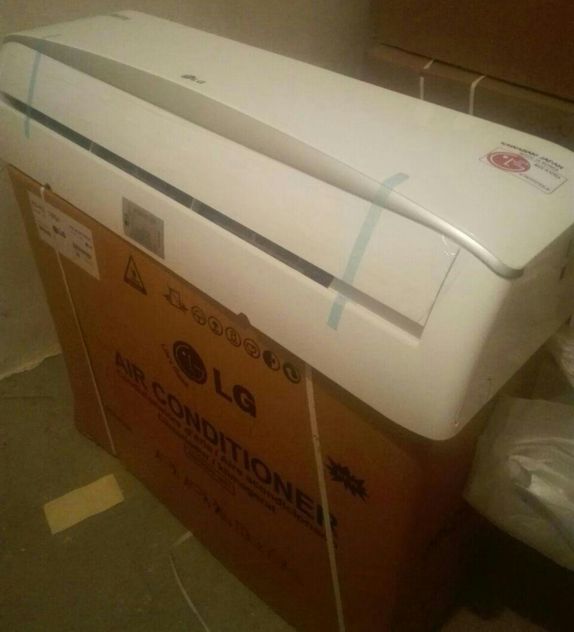 کولر گازی ال جی LG سرمایشی گرمایشی کم مصرف با لوله و کابل رایگان