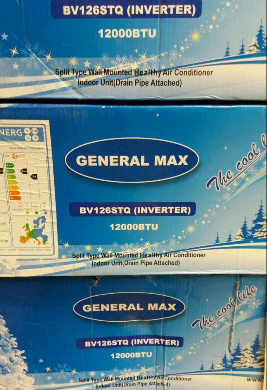کولر گازی جنرال مکس jeneral max سرمایشی گرمایشی کم مصرف با گاز R410