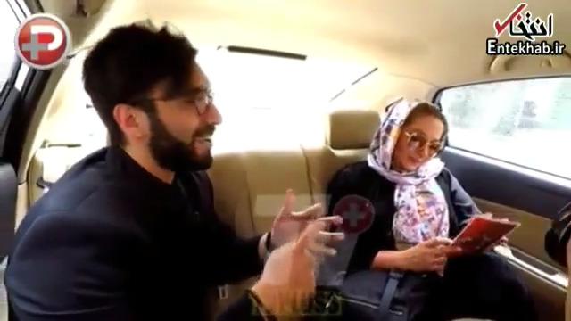 طعنه سنگین مهران مدیری به خانم بازیگر روی آنتن زنده