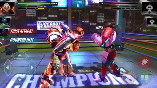 بازی مسابقات بوکس ربات ها اندروید نسخه Real Steel Boxing Champions v1.0.487