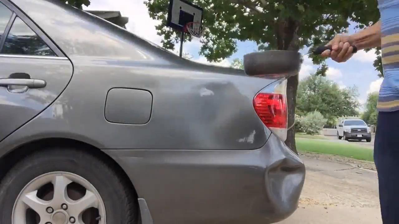 ساده ترین ترفند صاف کردن بدنه ماشین با آب گرم