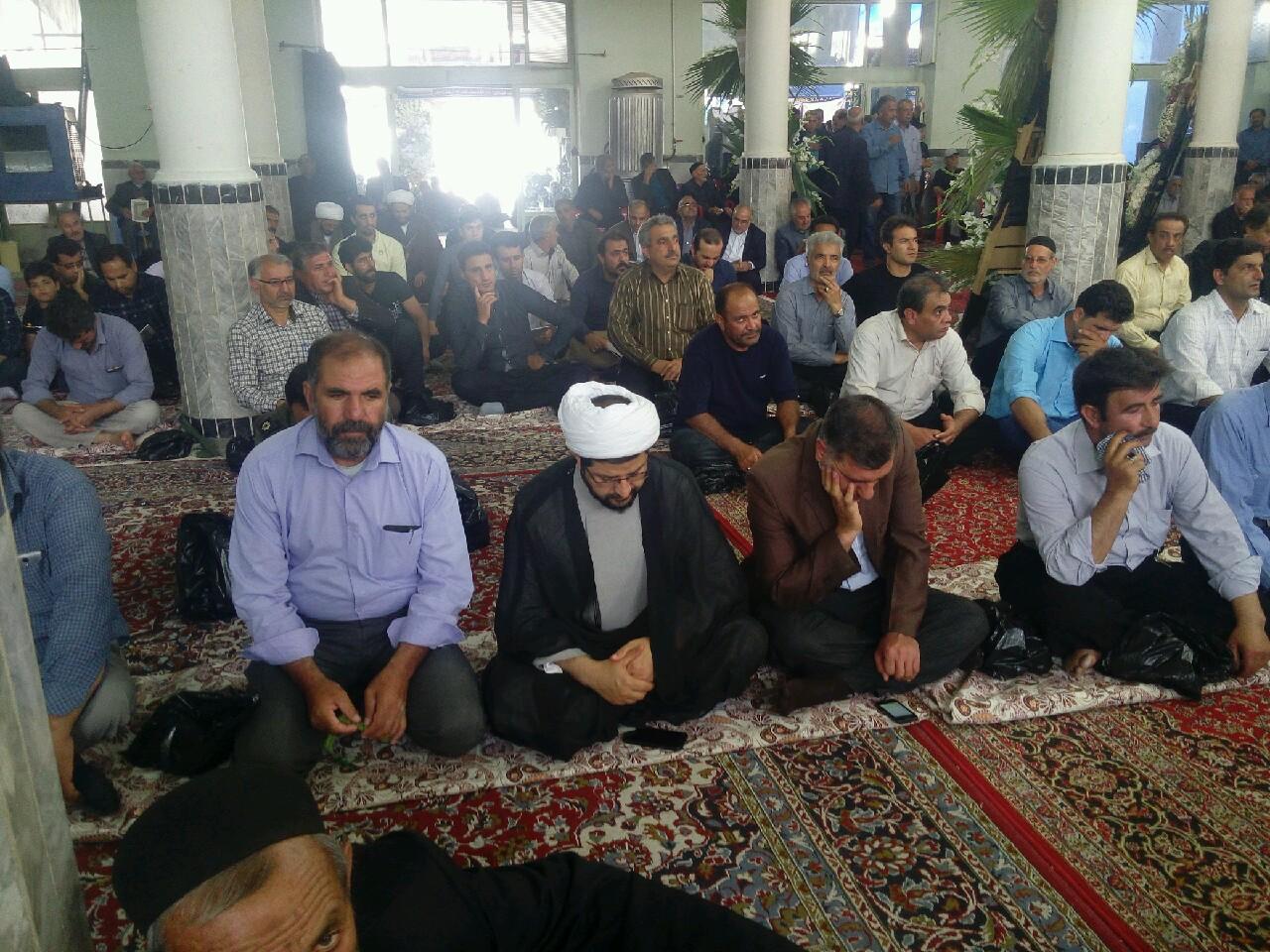 حضور امام جمعه محترم شهر قهدریجان در مراسم های ترحیم بخش در دشتچی
