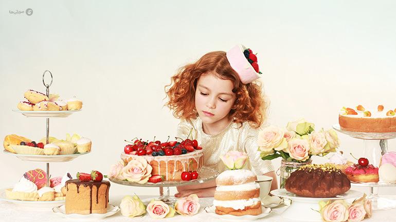 ایدههای تزیین کیک روز دختر