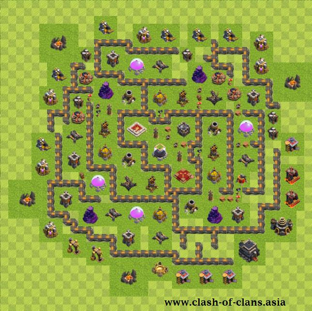 نقشه های برتر کلش آف کلنز برای تاون هال 9