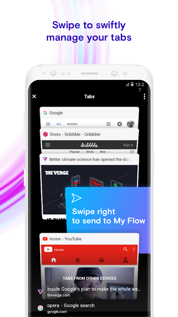 دانلود Opera Touch 1.7.3 - مرورگر فوق سریع اپرا تاچ برای اندروید