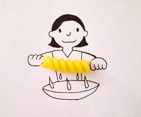 نقاشی های ترکیبی و طنز با اشیا2