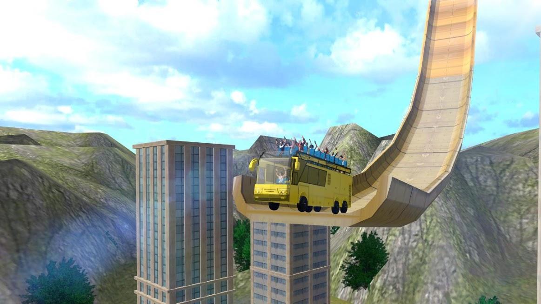 دانلود Impossible Bus Mega Ramp 1.2 - بازی سقوط آزاد با اتوبوس برای اندروید