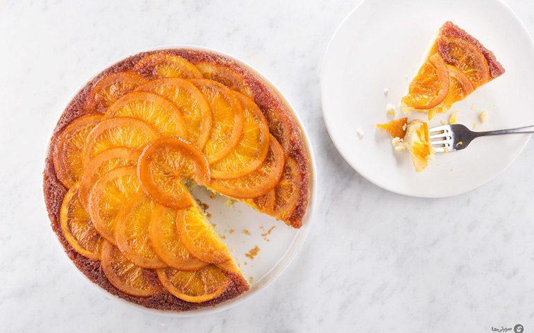 آموزش تهیه و پخت کیک پرتقالی بدون فر