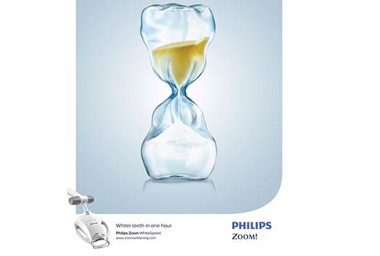 تبلیغ خلاقانه فیلیپسزوم برای سفیدشدن دندانها