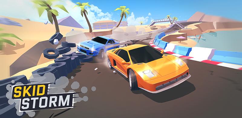 دانلود SkidStorm - بازی مسابقه ای طوفان ماشین ها برای اندروید و آی او اس + مود