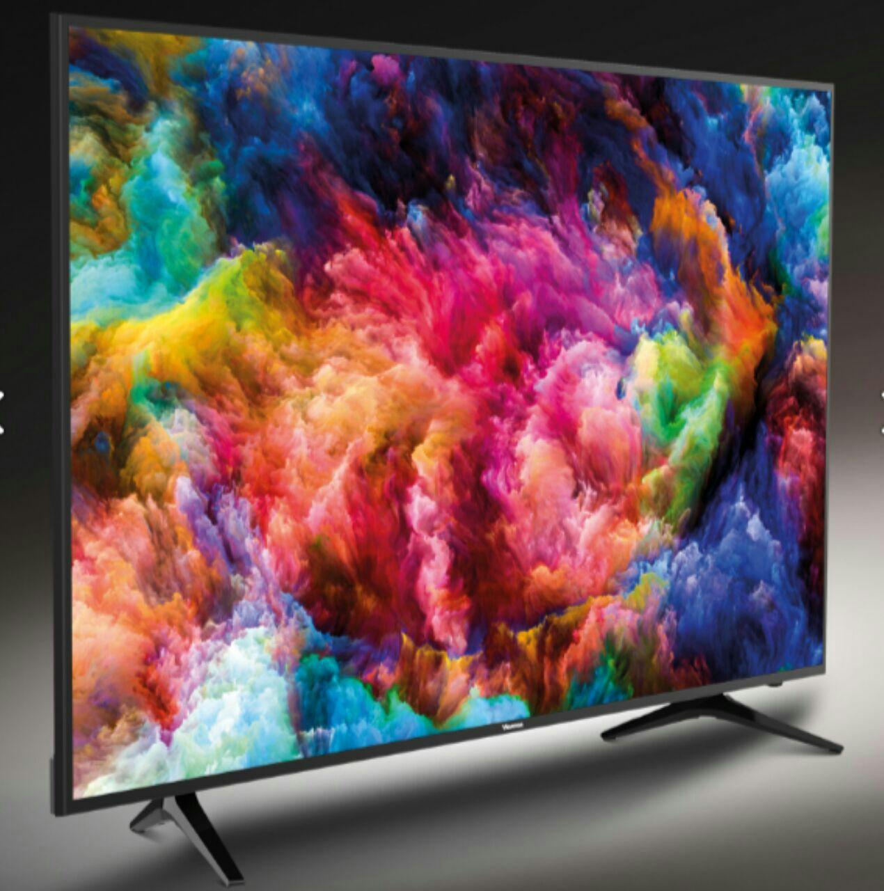 تلویزیون ال ای دی 55 اینچ فورکی اسمارت هایسنس hisense مدل 6100 فول آپشن