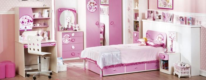 عکس اتاق خواب دخترانه ساده