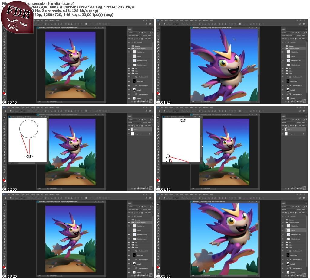 دانلود Lynda Illustration Compositing Techniques – تکنیک های کامپوزیت دیجیتالی برای تصویرسازی در فتوشاپ