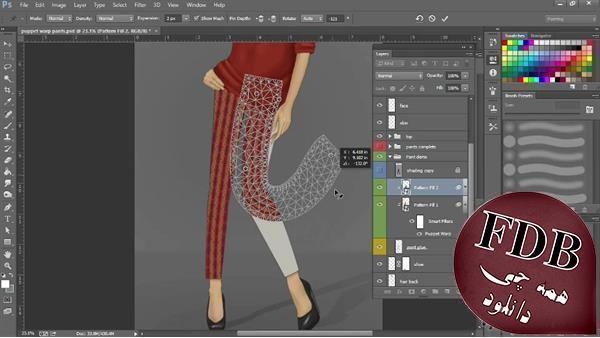 دانلود Lynda Photoshop For Fashion Warping Pattern Fills – تکنیک های طراحی مد در فتوشاپ