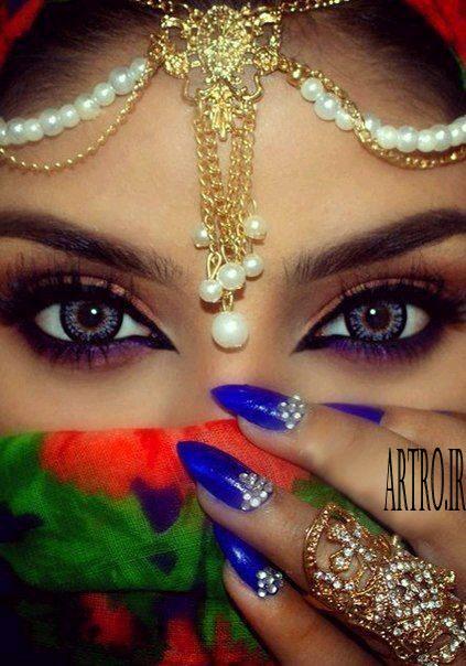 مدل آرایش چشم رنگی 2019