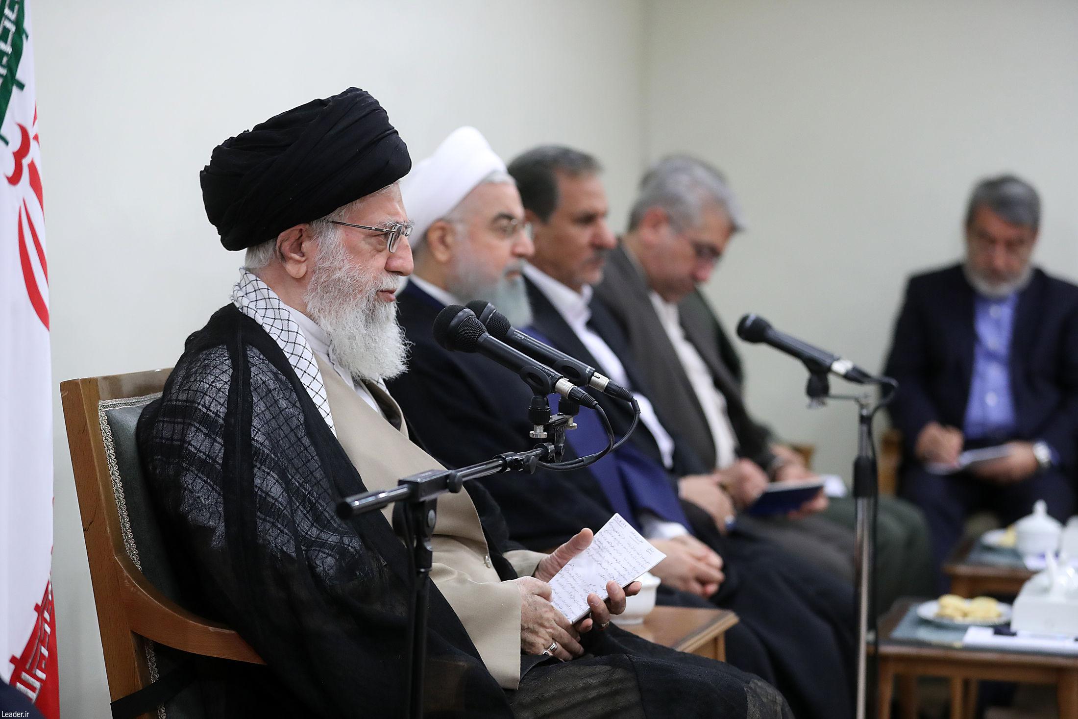 ⭕️ جلسه مهم رهبر انقلاب با اعضای دولت