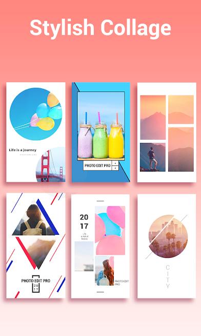 دانلود Photo Editor Pro – Sticker, Filter, Collage Maker 1.7.7.1002 - برنامه ویرایش عکس اندروید