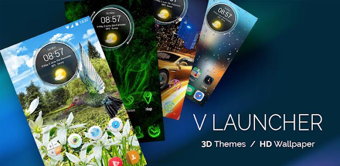 دانلود V Launcher- 3D Theme & HD Wallpaper - لانچر زیبا و لاکچری برای اندروید
