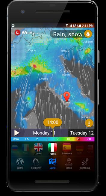 دانلود 3D Earth Pro - Weather Forecast, Radar & Alerts UK 1.0.14 - برنامه هواشناسی 3 بعدی اندروید