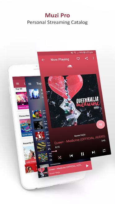 دانلود Muzi Pro - Mp3 Songs 1.0.6 - موزیک پلیر و شبکه موسیقی آنلاین برای اندروید