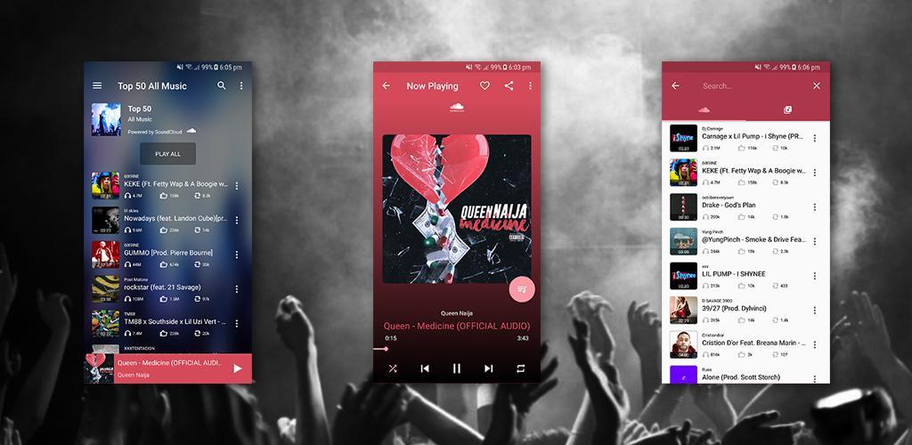 دانلود Muzi Pro - Mp3 Songs - موزیک پلیر و شبکه موسیقی آنلاین برای اندروید
