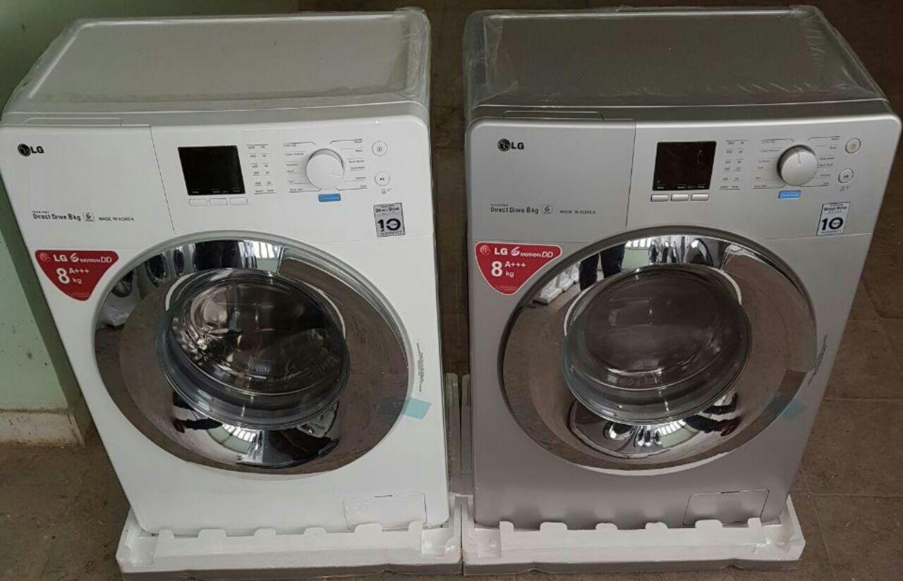 ماشین لباسشویی الجی lg ظرفیت 8 کیلو با نمایشگر دیجیتال