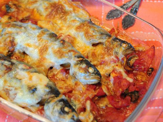 تهیه ماهی قزل آلا با پنیر گودا