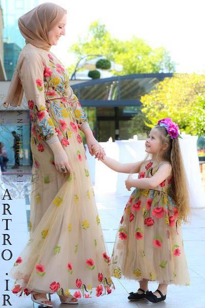 ست لباس مجلسی مادر و دختر 2019