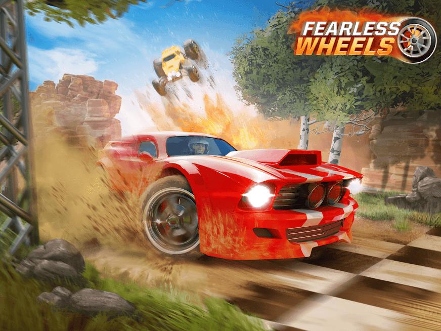 دانلود Fearless Wheels 1.0.23 - بازی مسابقه ای چرخ های بدون تردید برای اندروید و آی او اس + مود