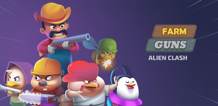 دانلود Farm Guns: Alien Clash 2018 - بازی مزرعه اسلحه: نبرد بیگانگان 2018 برای اندروید + مود