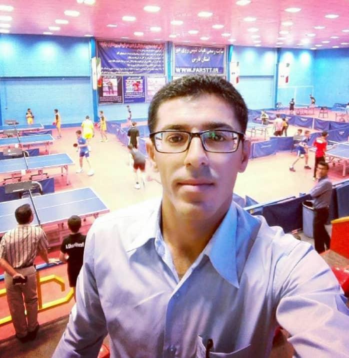 قضاوت داور لامردی در مسابقات انتخابی تیم ملی تنیس روی میز